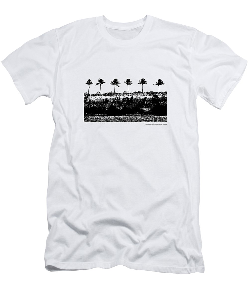 Beach Men's T-Shirt (Athletic Fit) featuring the photograph Tiger Tail Beach by Laurie Paci