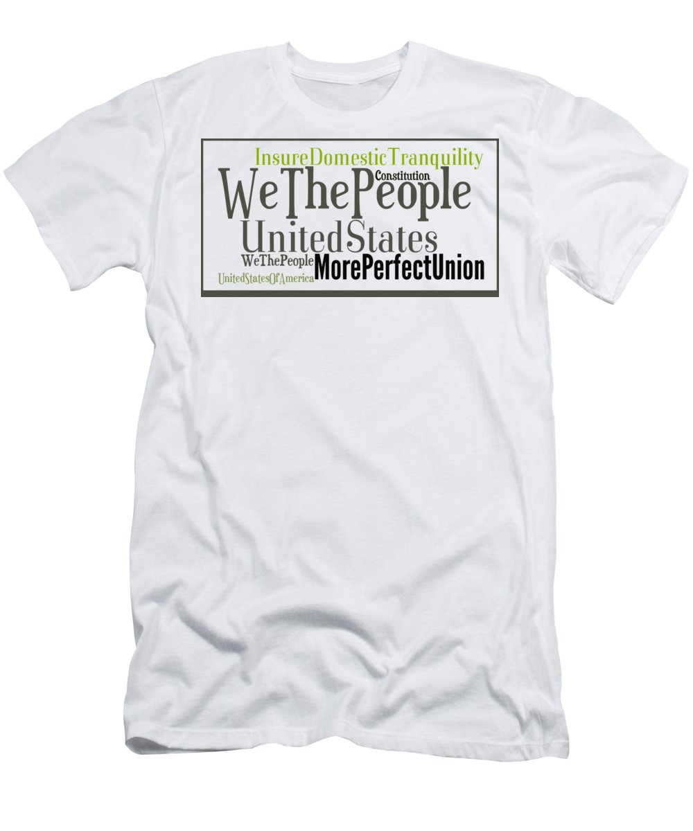 Men's T-Shirt (Athletic Fit) featuring the digital art We The People Of The United States Of America by Anne Kitzman