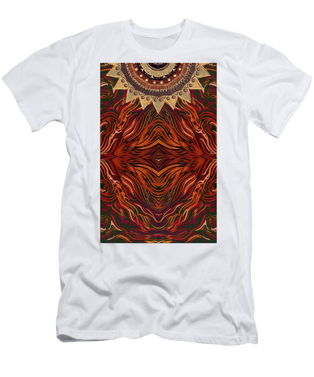 Furs Men's T-Shirt (Athletic Fit) featuring the digital art Zebra And Jewels by Sandrine Kespi