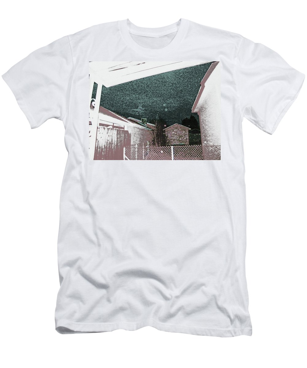 Abstract Men's T-Shirt (Athletic Fit) featuring the digital art 2011 Moon 5 by Lenore Senior