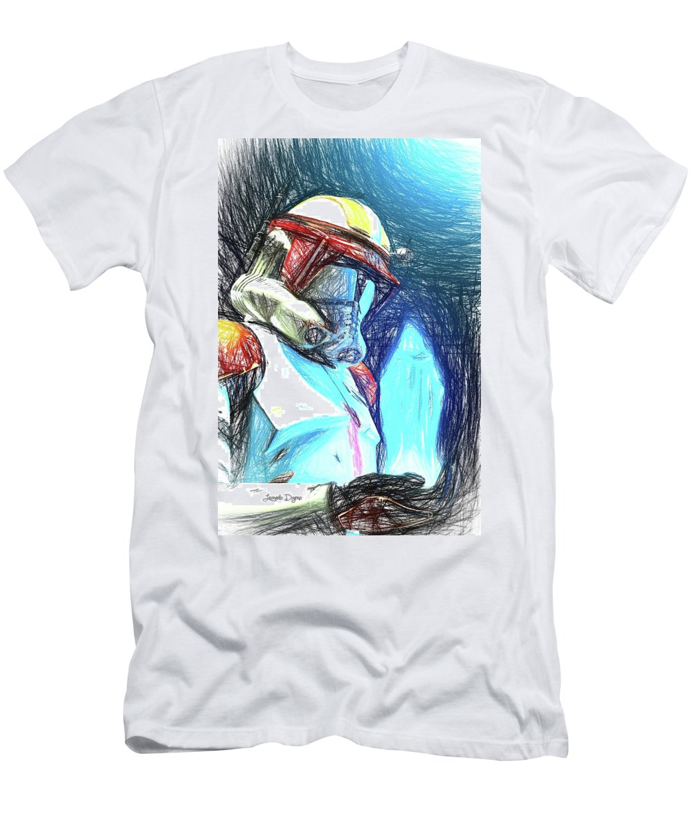 Execute Order 66 Men's T-Shirt (Athletic Fit) featuring the painting Execute Order 66 - Sketch Style by Leonardo Digenio