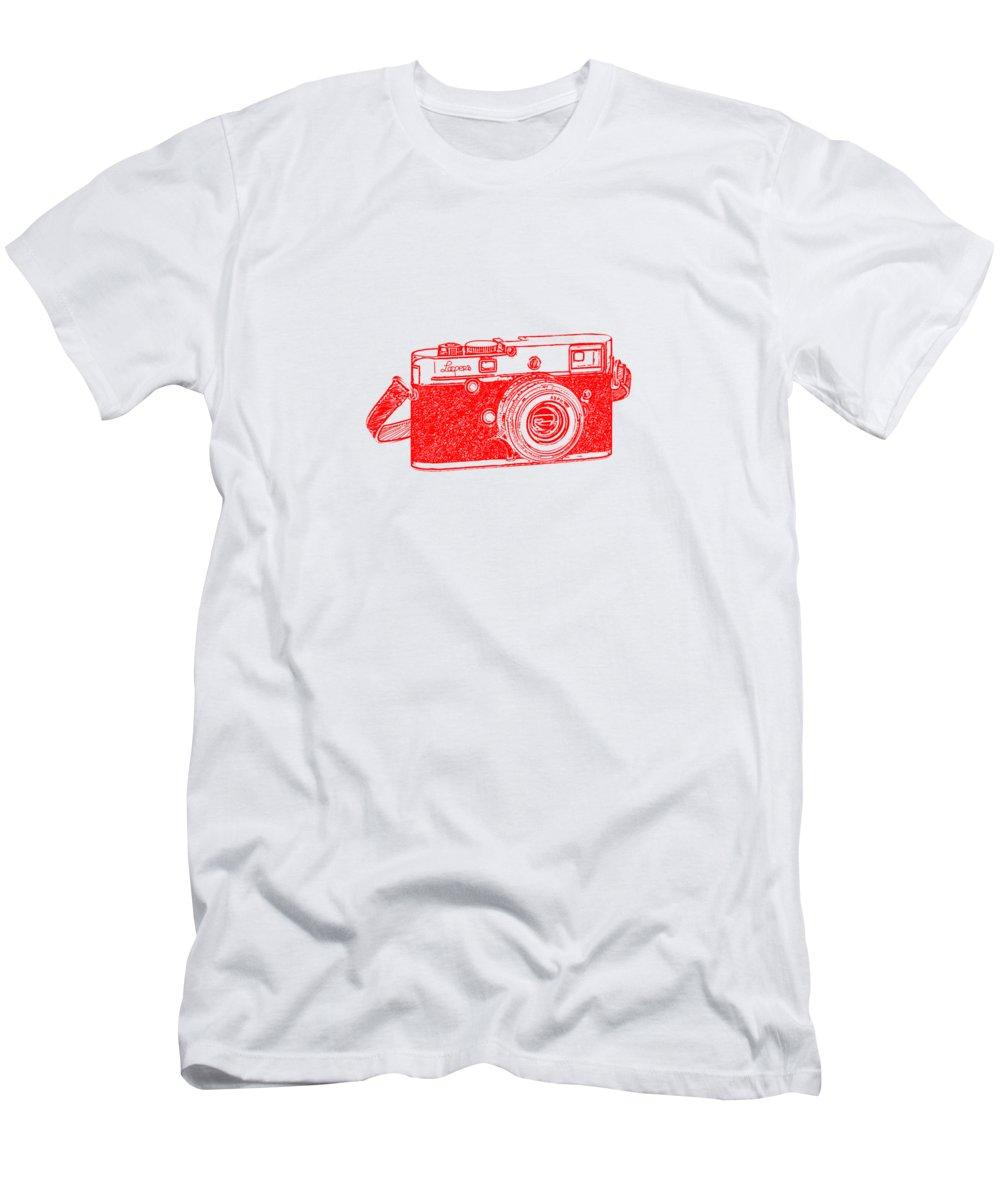 Analog Men's T-Shirt (Athletic Fit) featuring the digital art Rangefinder Camera by Setsiri Silapasuwanchai