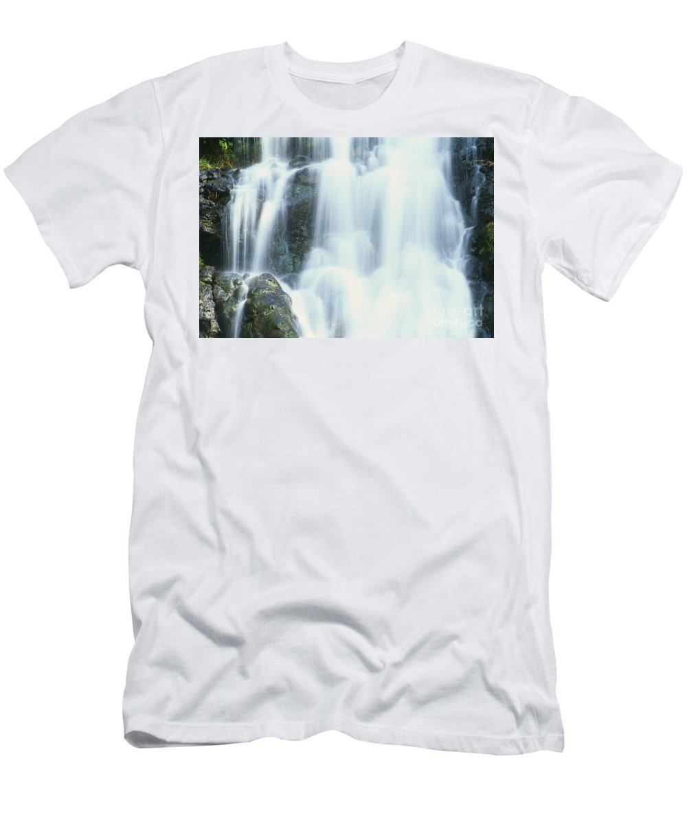 Beautiful Men's T-Shirt (Athletic Fit) featuring the photograph Waterfall Close-up by Bill Brennan - Printscapes