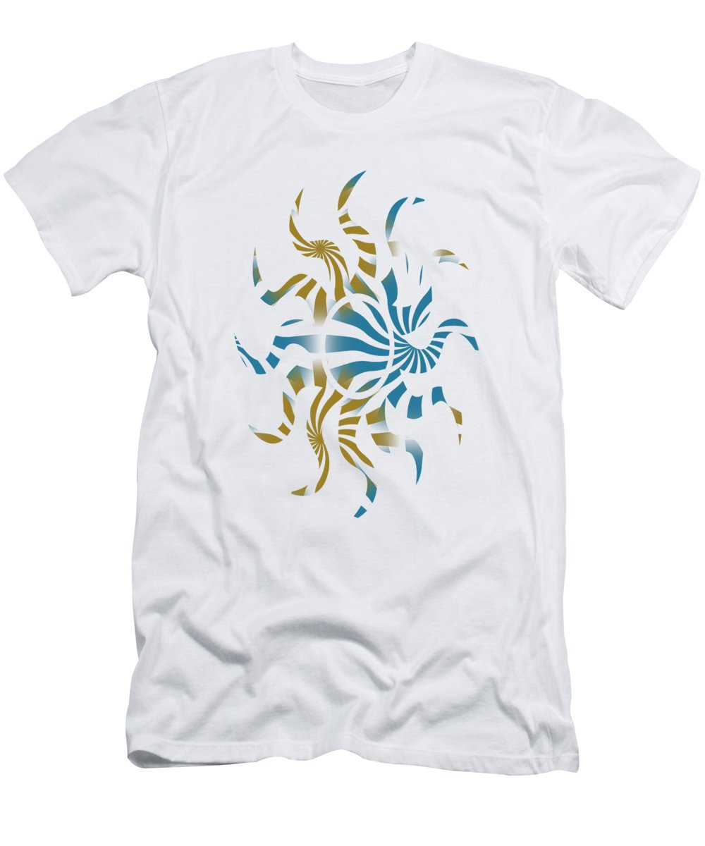 Abstract Men's T-Shirt (Athletic Fit) featuring the mixed media 3d Spiral Art by Christina Rollo