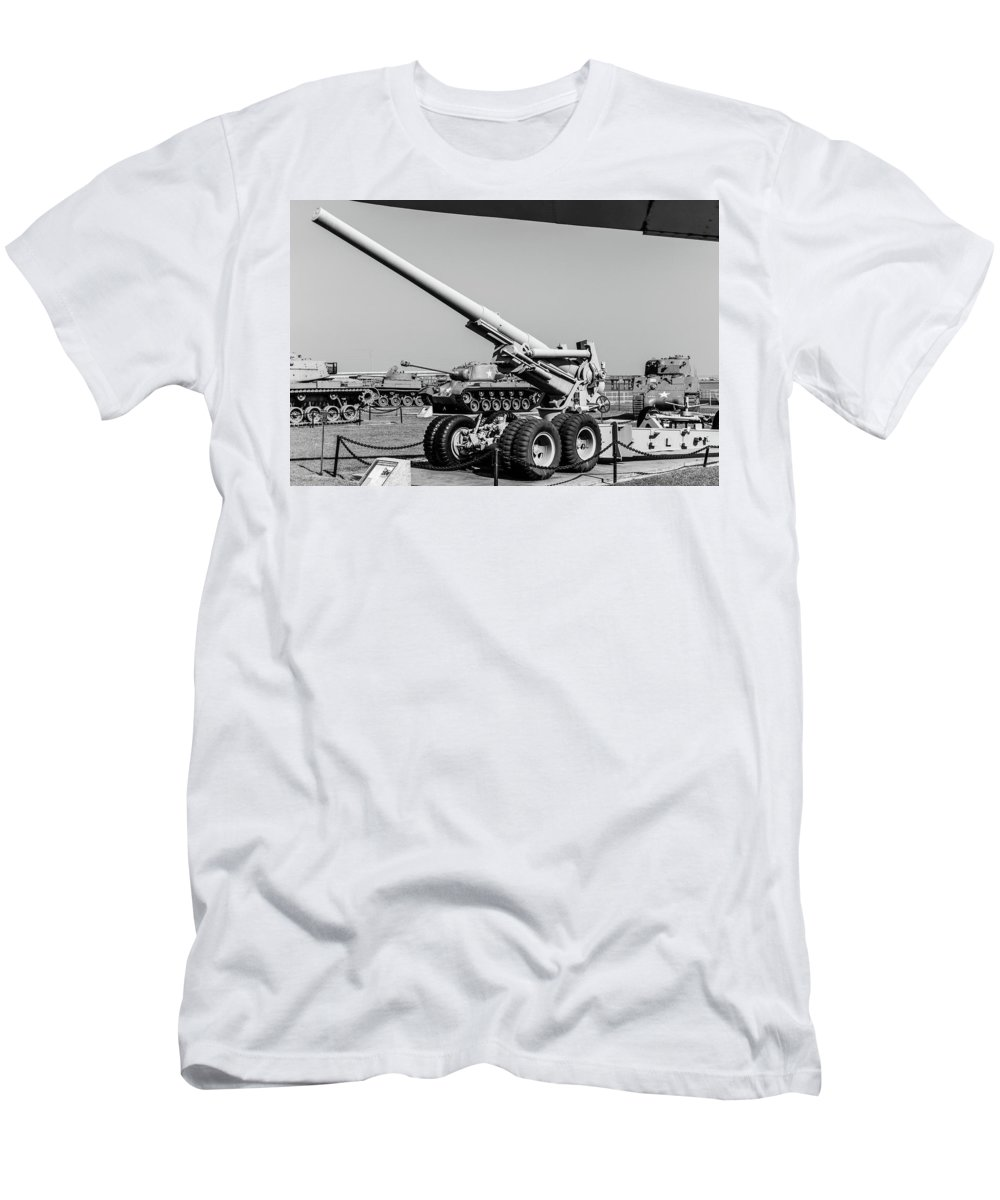 World War Two Men's T-Shirt (Athletic Fit) featuring the photograph Uss Alabama Museum by Ric Schafer