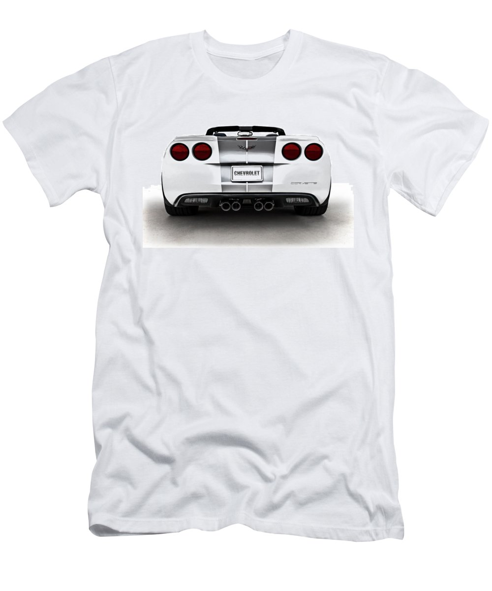 Anniversary Men's T-Shirt (Athletic Fit) featuring the digital art 60th Anniversary Corvette by Douglas Pittman