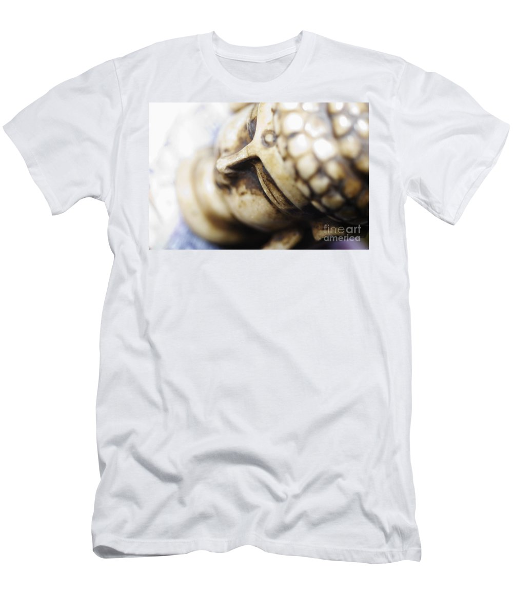 Adorn Men's T-Shirt (Athletic Fit) featuring the photograph Buddha Sculpture by Ray Laskowitz - Printscapes