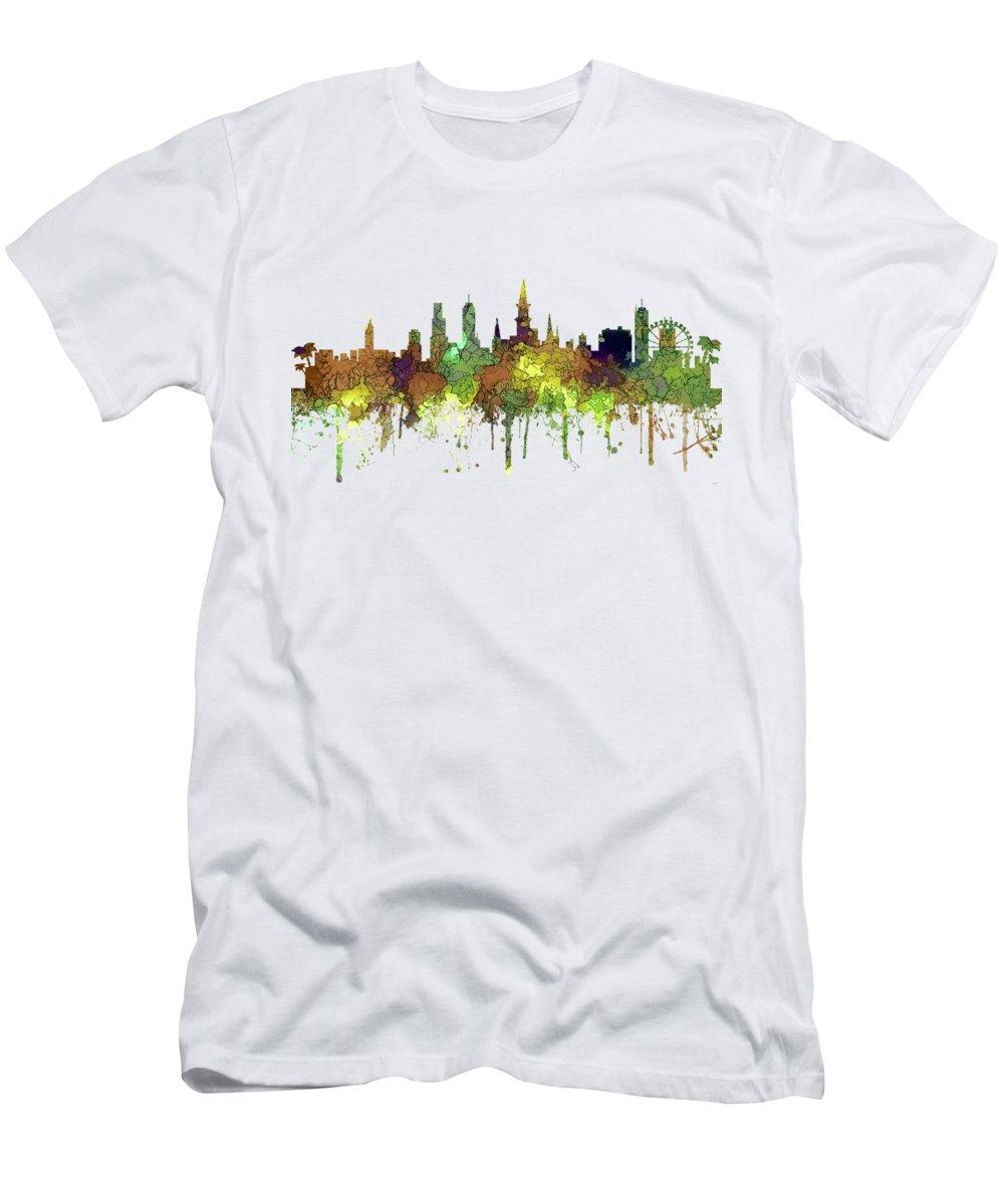 New Orleans Louisiana Skyline T-Shirt featuring the digital art New Orleans Louisiana Skyline by Marlene Watson
