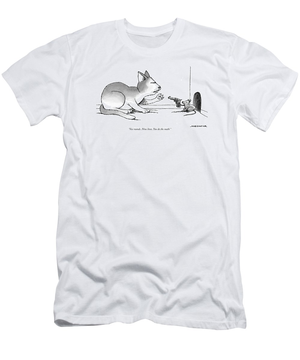Cctk T-Shirt featuring the drawing A Mouse Is In Front Of A Mouse Hole Pointing by Joe Dator
