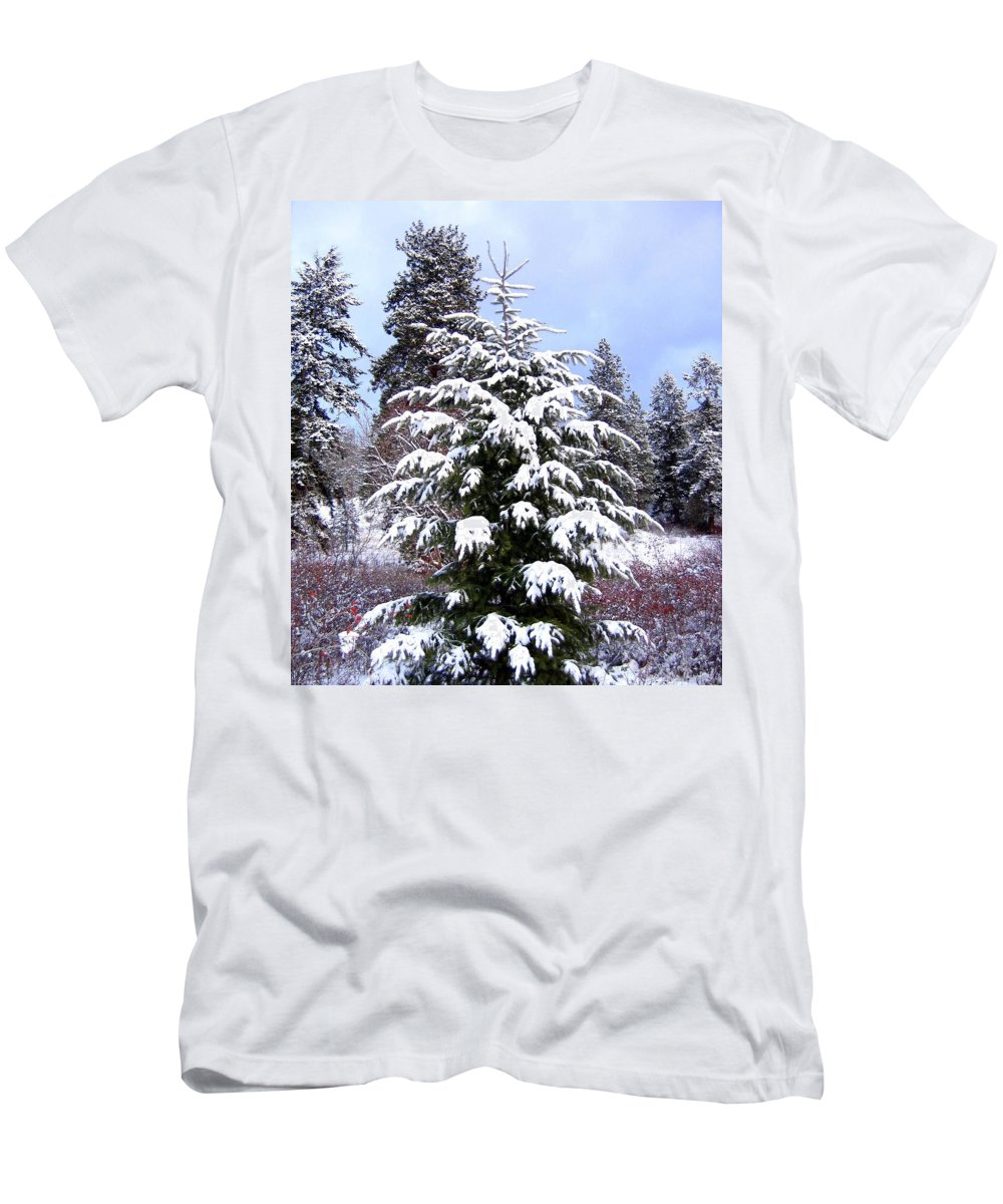 Winter Men's T-Shirt (Athletic Fit) featuring the photograph A Peaceful Winter Day by Will Borden