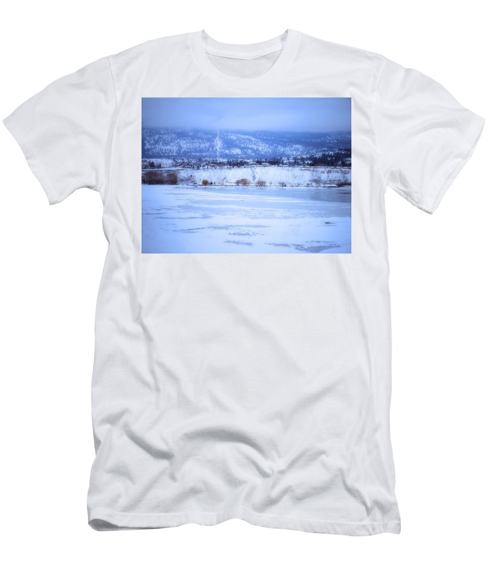 Penticton Men's T-Shirt (Athletic Fit) featuring the photograph A Penticton Winter by Tara Turner
