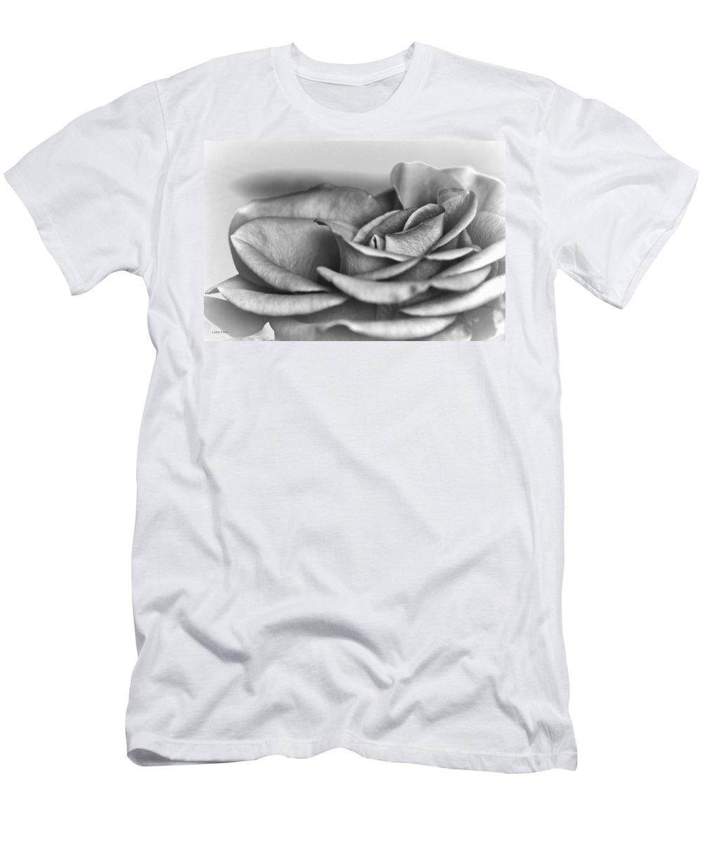 Roses Men's T-Shirt (Athletic Fit) featuring the photograph A Roses Solitude by Lesa Fine