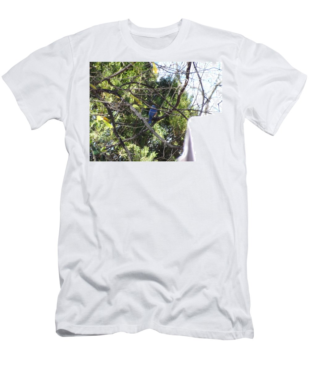 Men's T-Shirt (Athletic Fit) featuring the photograph A Touch Of Blue 2 by Mark Dibble