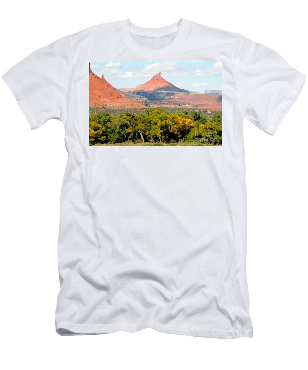 Fall Men's T-Shirt (Athletic Fit) featuring the photograph A Touch Of Fall by David Lee Thompson