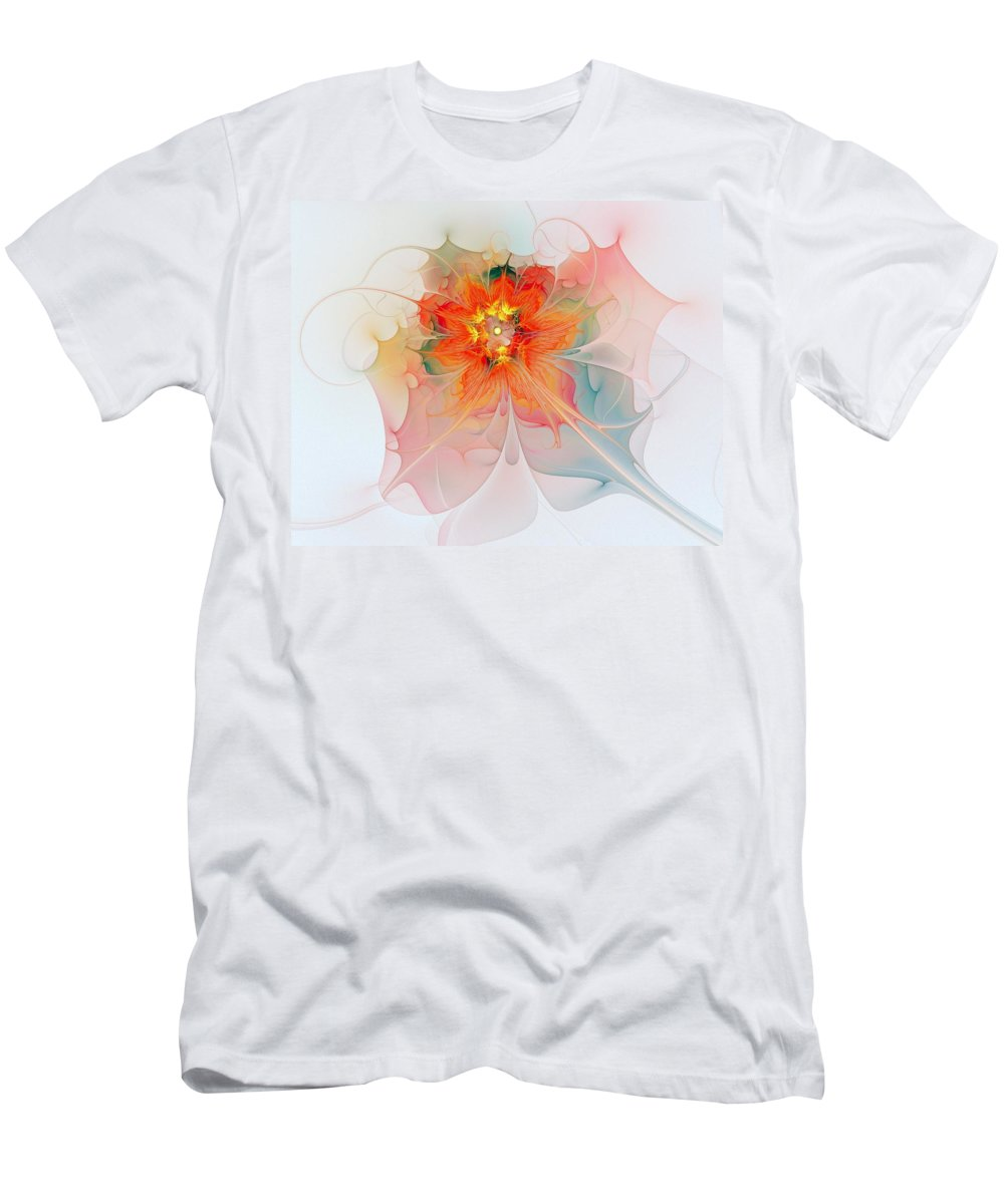 Digital Art Men's T-Shirt (Athletic Fit) featuring the digital art A Touch Of Spring by Amanda Moore