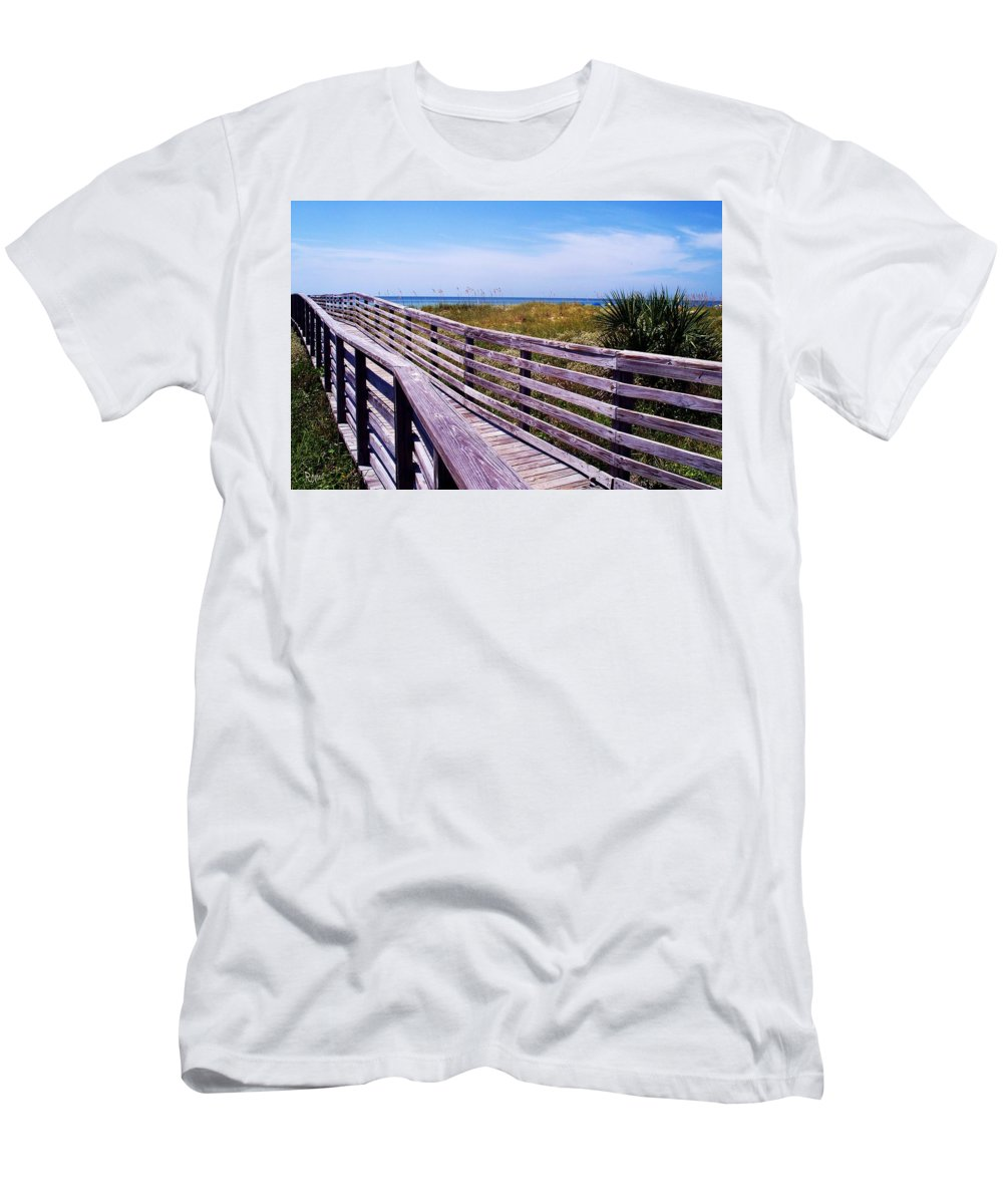 Beach Men's T-Shirt (Athletic Fit) featuring the photograph A Walk To The Beach by Robin Monroe