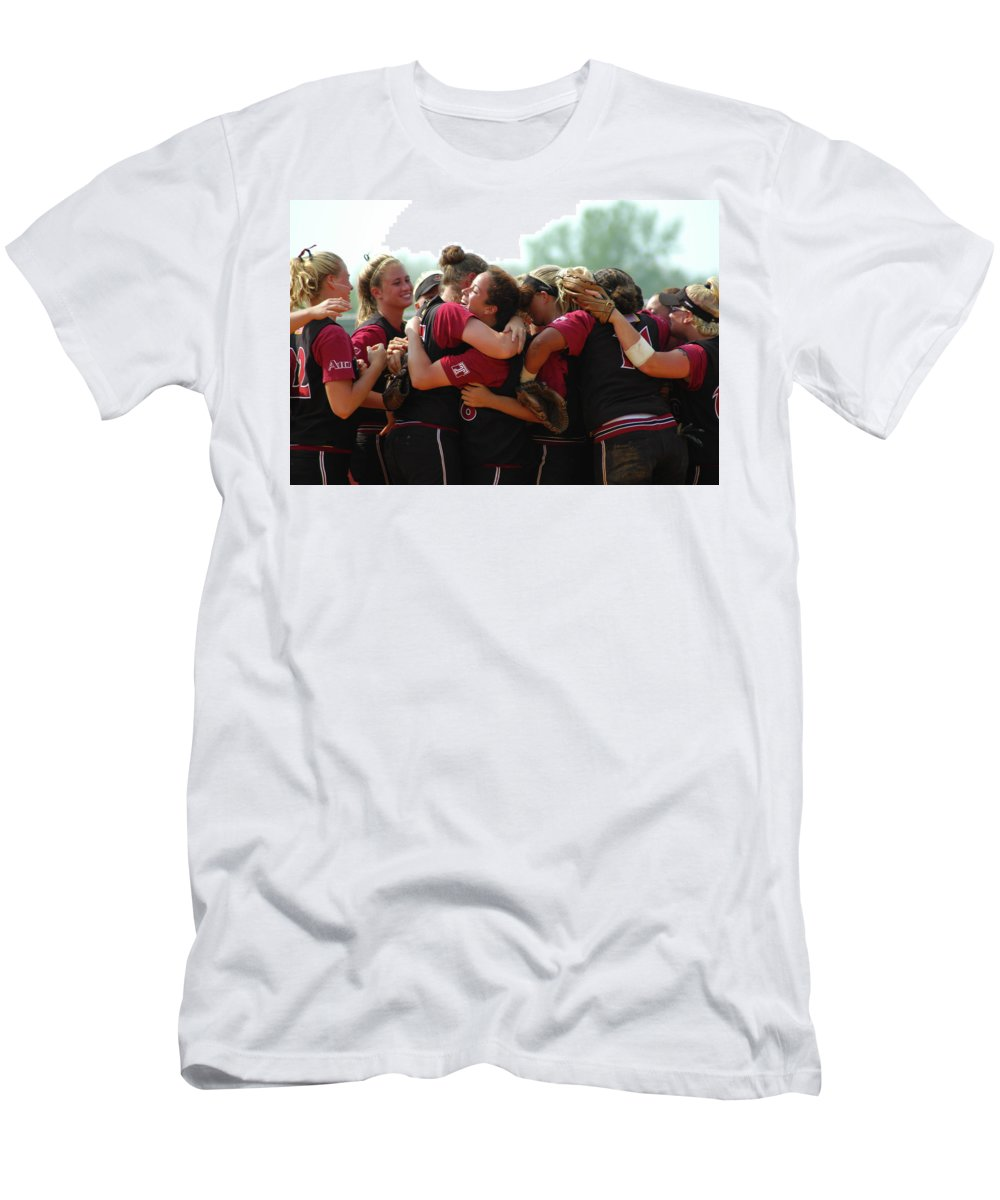 A10 Men's T-Shirt (Athletic Fit) featuring the photograph A10 Victory Celebration by Mike Martin