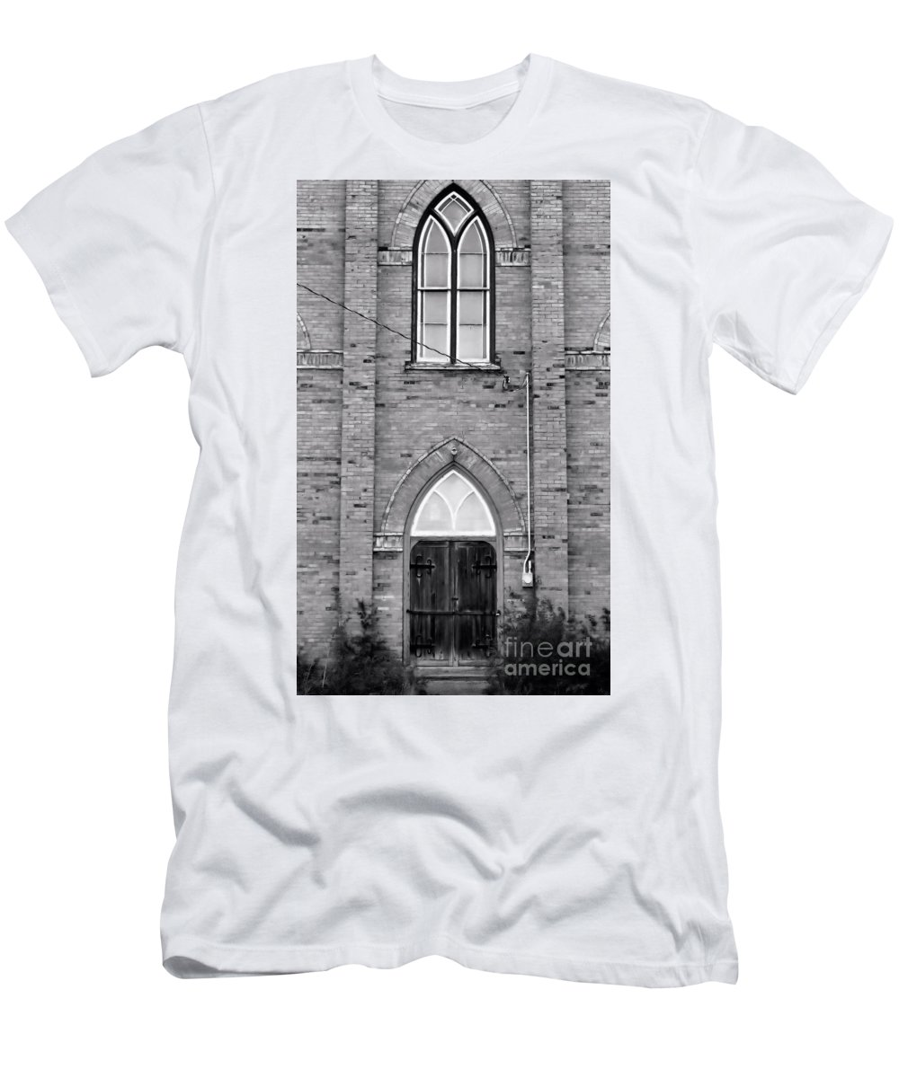 Church Men's T-Shirt (Athletic Fit) featuring the photograph Abandoned Church by Kristi Beers-Mason
