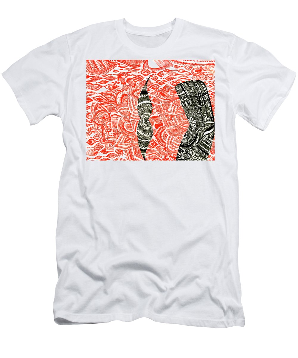 Design Men's T-Shirt (Athletic Fit) featuring the painting Abi04 by Abirami