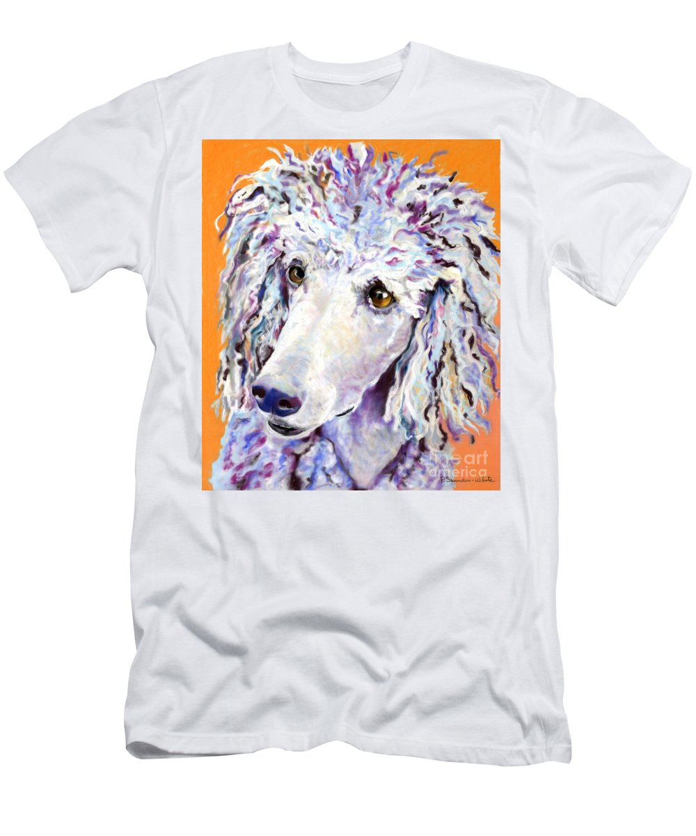 Standard Poodle Men's T-Shirt (Athletic Fit) featuring the pastel Above The Standard  by Pat Saunders-White