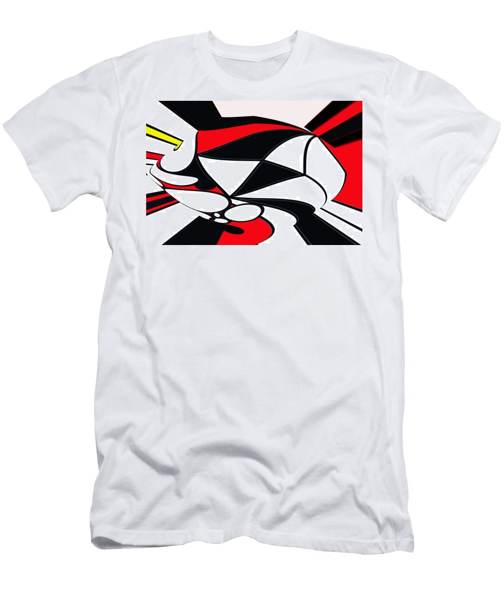 Abstract Men's T-Shirt (Athletic Fit) featuring the digital art Abstrac7-30-09-b by David Lane