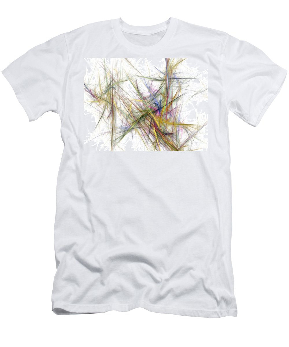 Abstract Digital Painting Men's T-Shirt (Athletic Fit) featuring the digital art Abstract 10-16-09-2 by David Lane