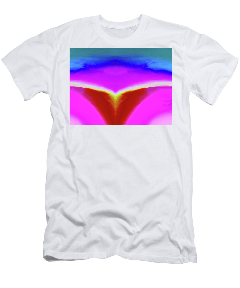 Abstract By Nicholas Nixo Men's T-Shirt (Athletic Fit) featuring the painting Abstract 103x By Nixo by Never Say Never