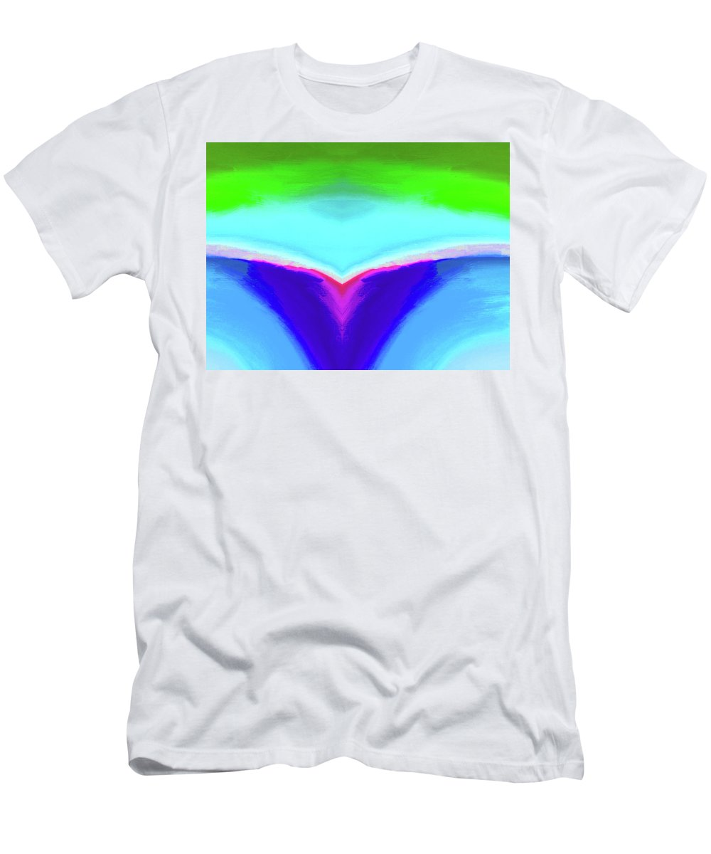 Abstract By Nicholas Nixo Men's T-Shirt (Athletic Fit) featuring the painting Abstract 106x By Nixo by Never Say Never