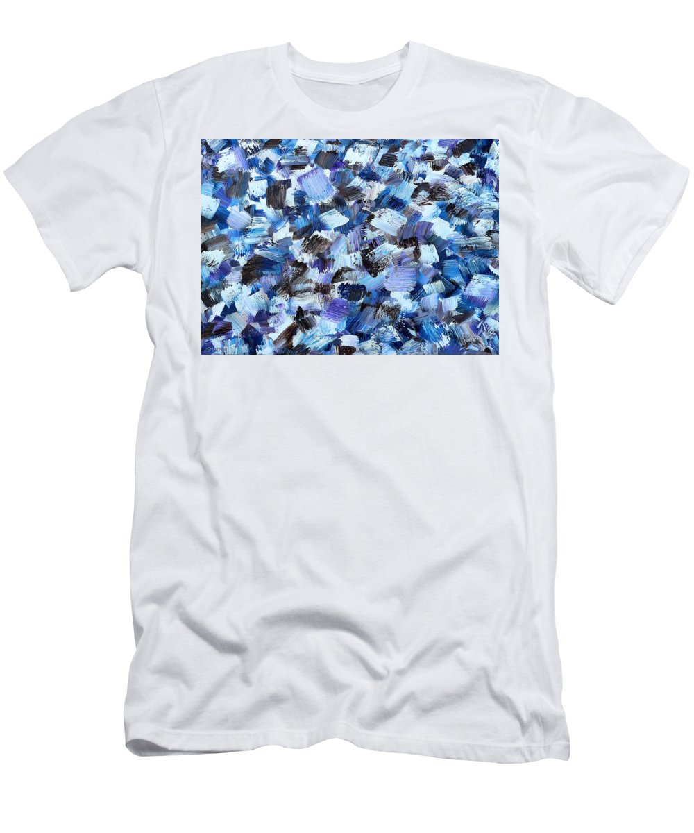 Abstract Men's T-Shirt (Athletic Fit) featuring the painting Abstract 517 by Patrick J Murphy