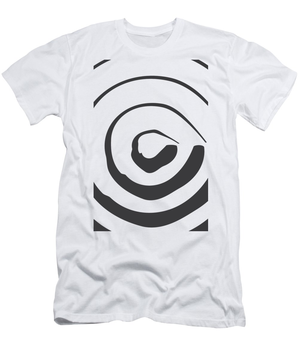Abstract T-Shirt featuring the digital art Abstract Art Perspective - Circle by Melanie Viola