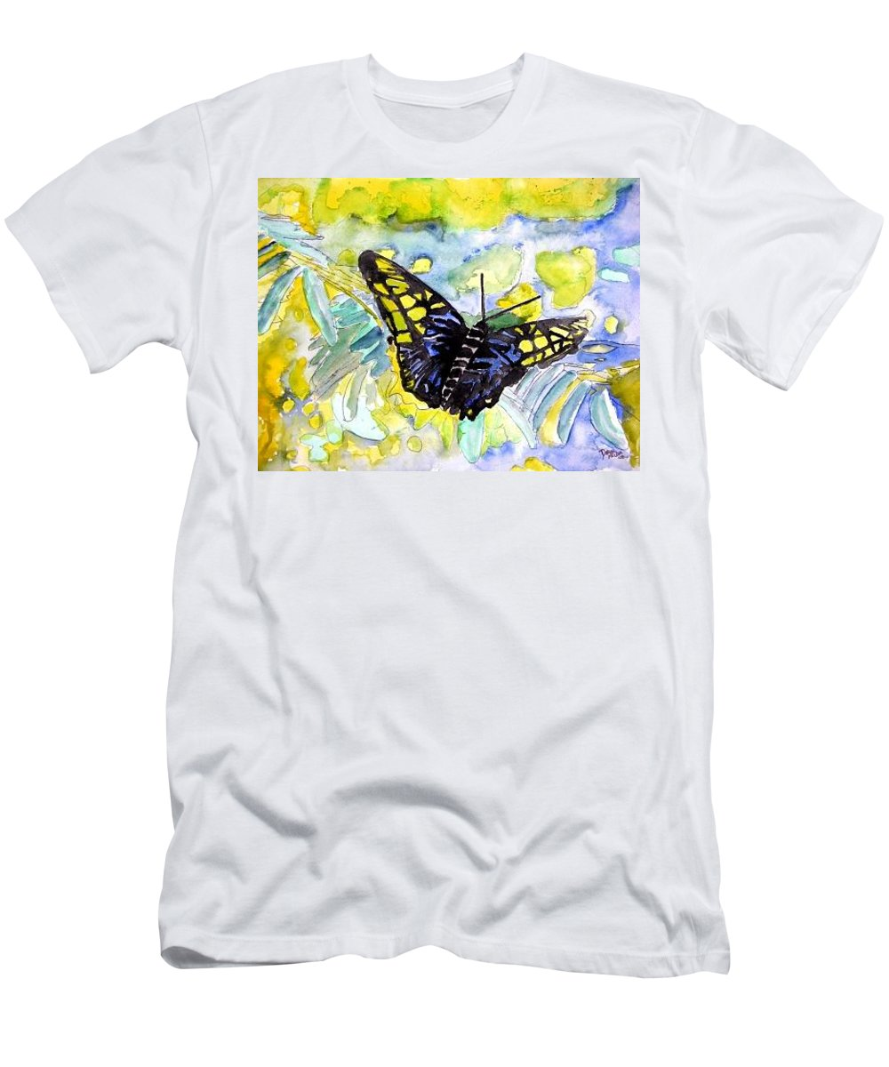 Abstract Men's T-Shirt (Athletic Fit) featuring the painting Abstract Butterfly by Derek Mccrea