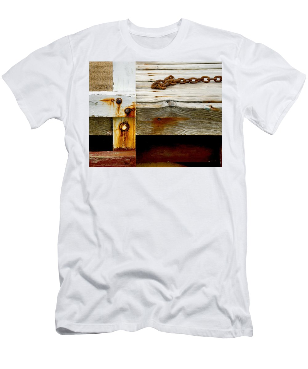 Abstract Men's T-Shirt (Athletic Fit) featuring the photograph Abstract Dock by Charles Harden