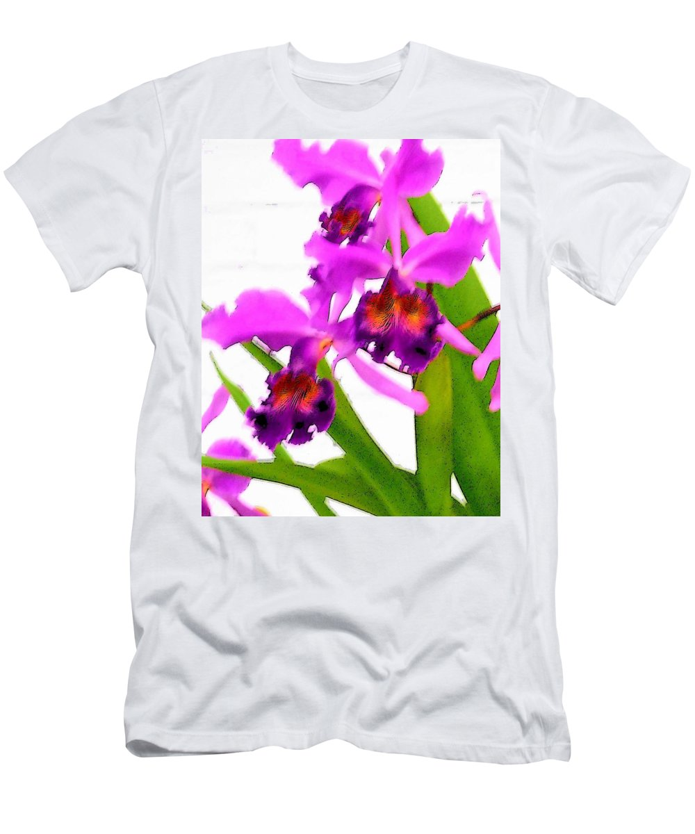 Flowers Men's T-Shirt (Athletic Fit) featuring the digital art Abstract Iris by Anita Burgermeister