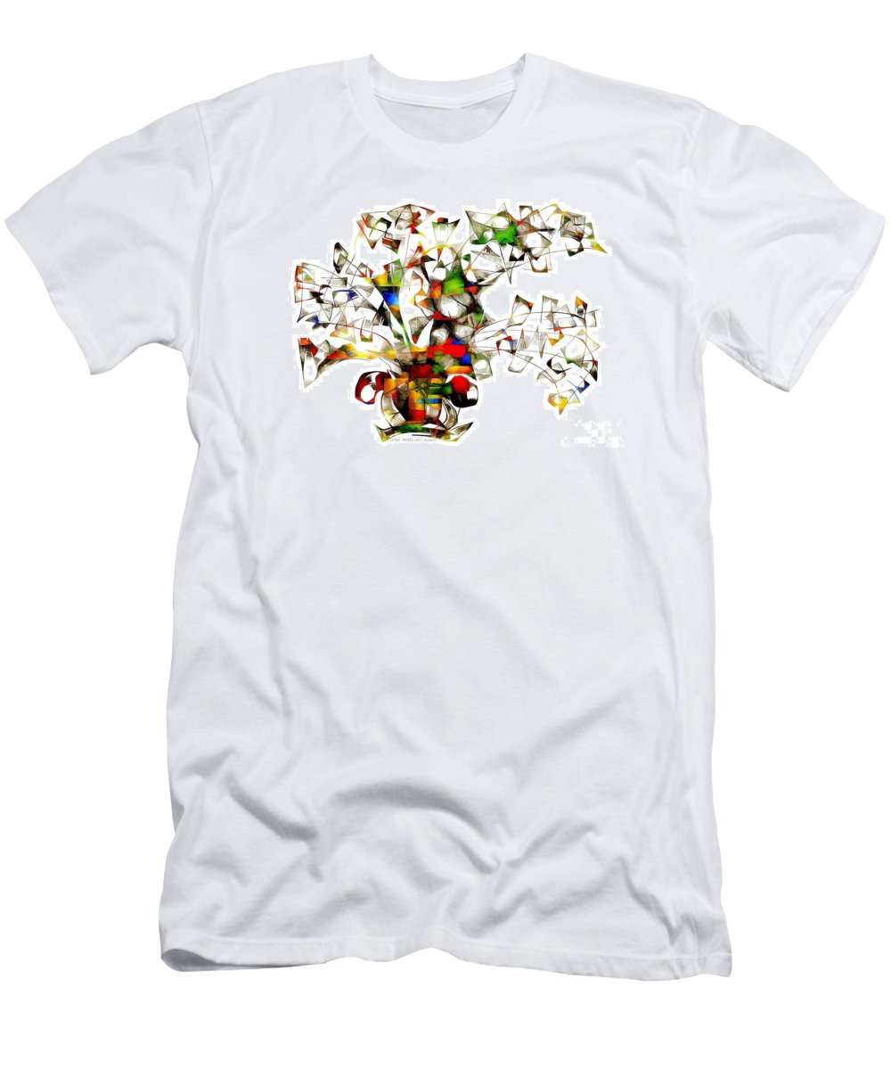 Abstraction Men's T-Shirt (Athletic Fit) featuring the digital art Abstraction 2175 by Marek Lutek