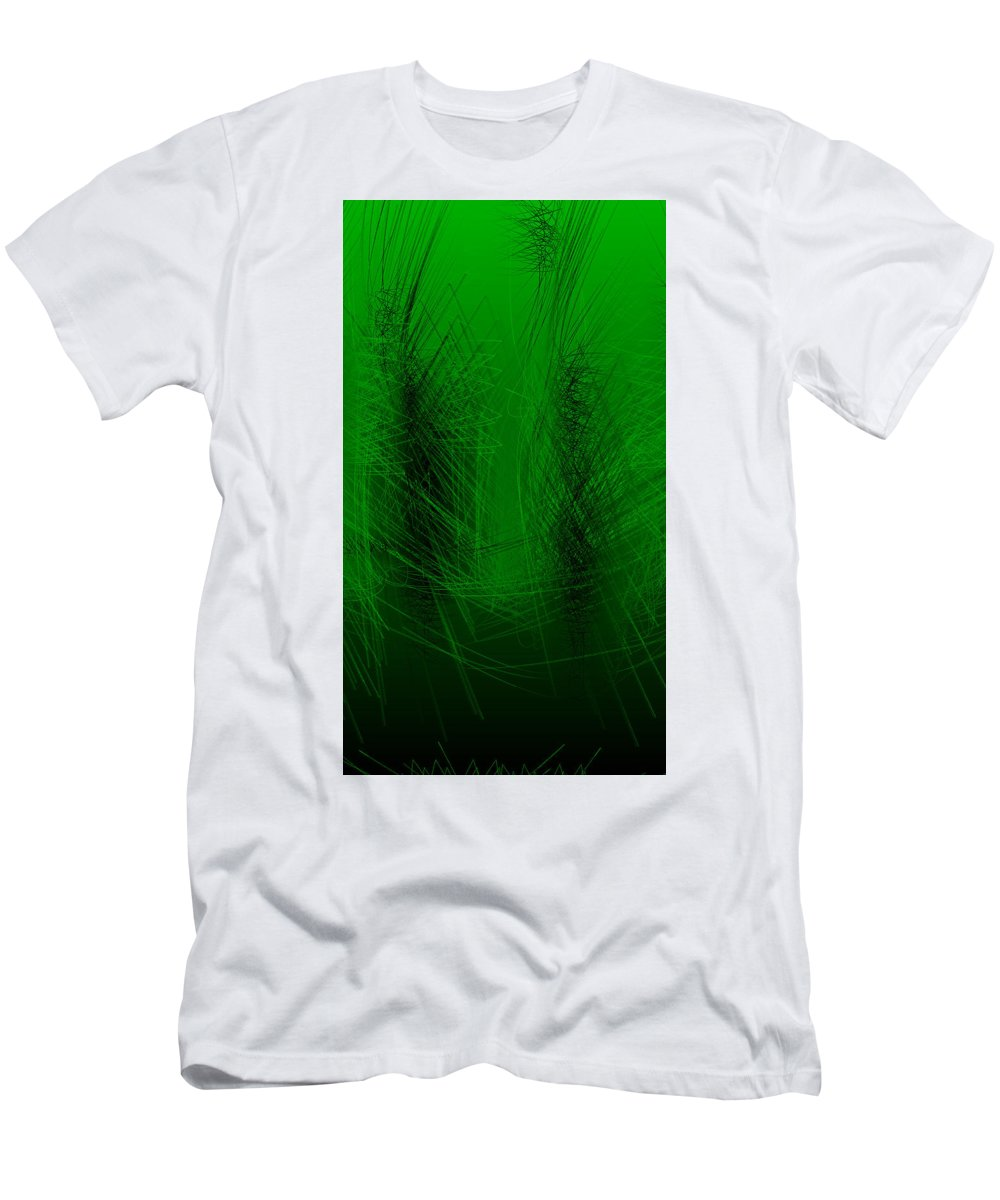 Rithmart Abstract Lines Organic Random Computer Digital Shapes Abstract Acanvas Algorithm Art Below Colors Designed Digital Display Drawn Images Number One Organic Recursive Reflection Series Shadowy Shapes Small Streaming Using Watery Men's T-Shirt (Athletic Fit) featuring the digital art Ac-3-26 by Gareth Lewis