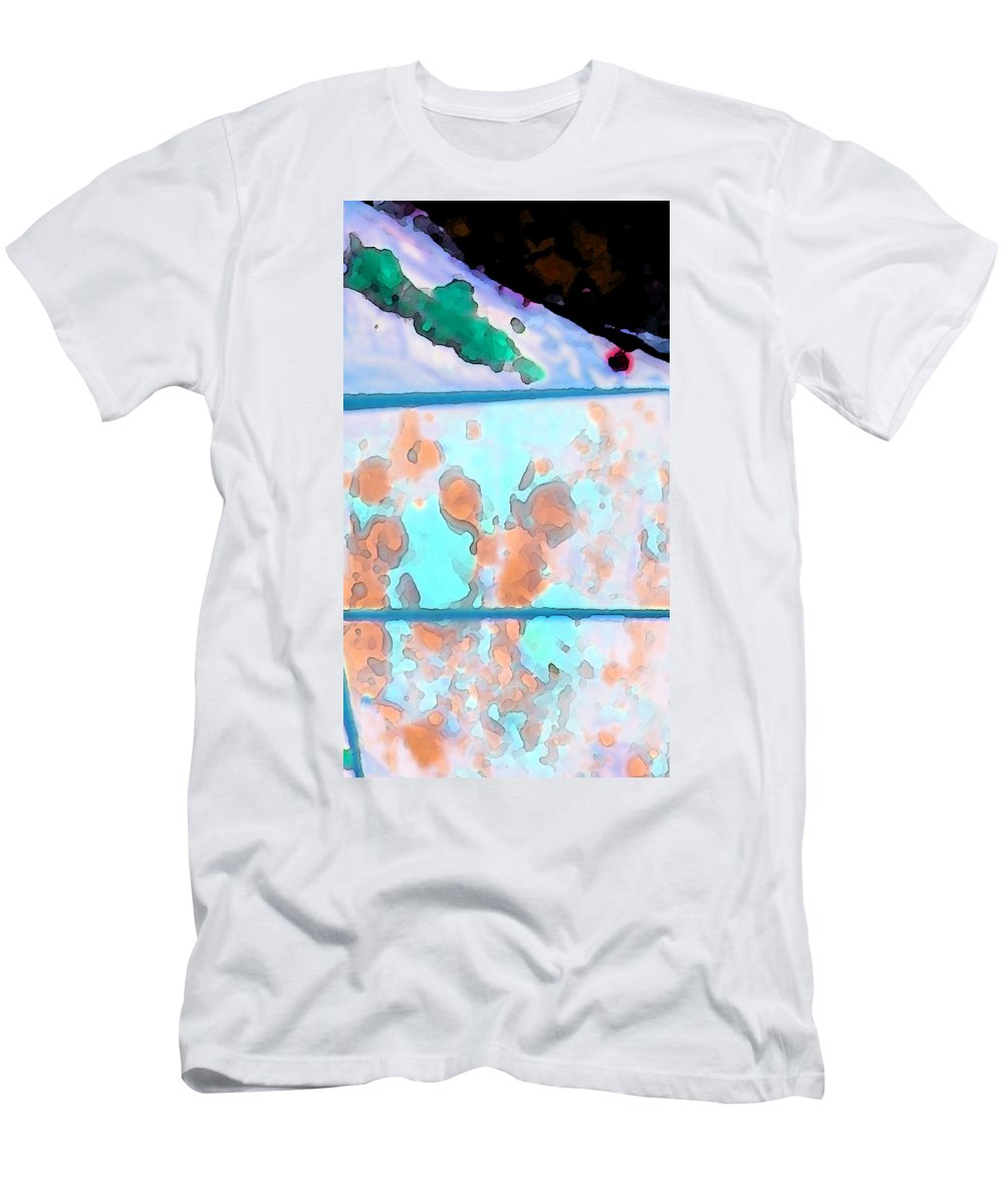 Abstract Men's T-Shirt (Athletic Fit) featuring the digital art Accident On The Moon by Lenore Senior