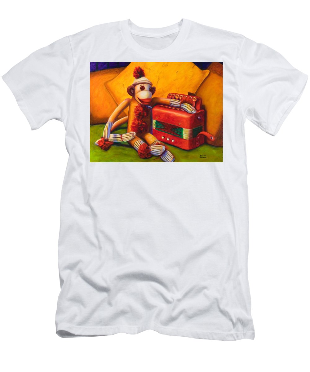 Children Men's T-Shirt (Athletic Fit) featuring the painting Accordion by Shannon Grissom