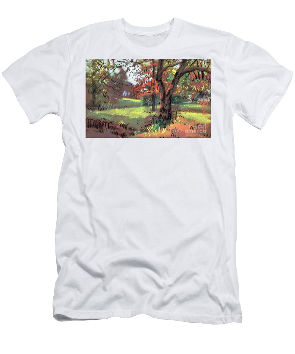 Pastel T-Shirt featuring the painting Across the Creek II by Donald Maier
