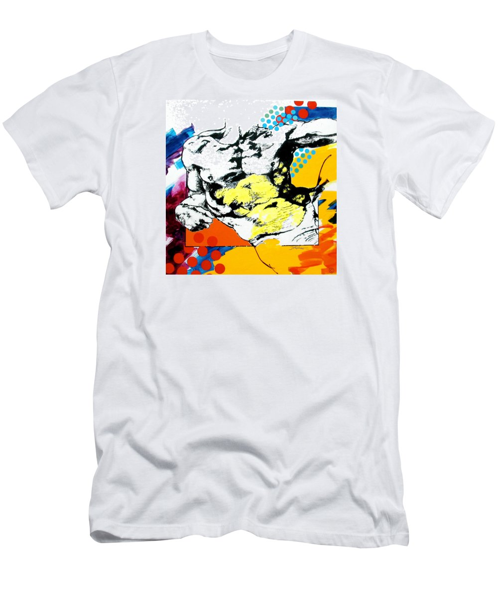 Pop Men's T-Shirt (Athletic Fit) featuring the painting Adam by Jean Pierre Rousselet