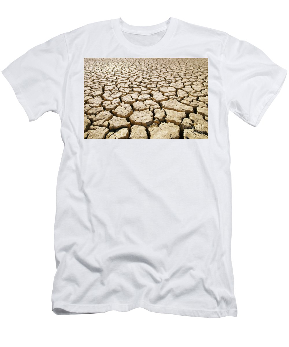 82-csm0037 Men's T-Shirt (Athletic Fit) featuring the photograph Africa Cracked Mud by Larry Dale Gordon - Printscapes