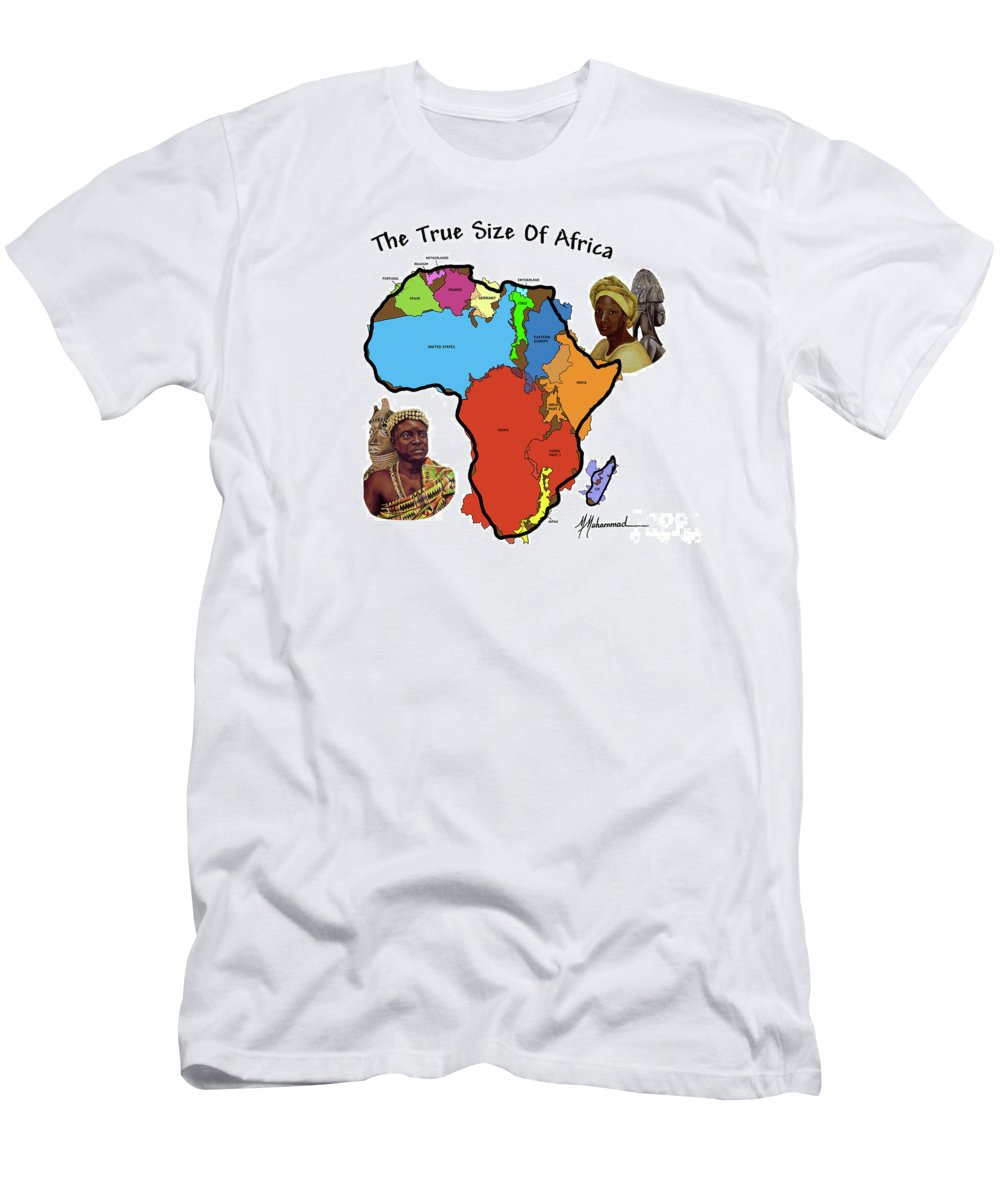 Africa Men's T-Shirt (Athletic Fit) featuring the painting Africa In Perspective by Marcella Muhammad