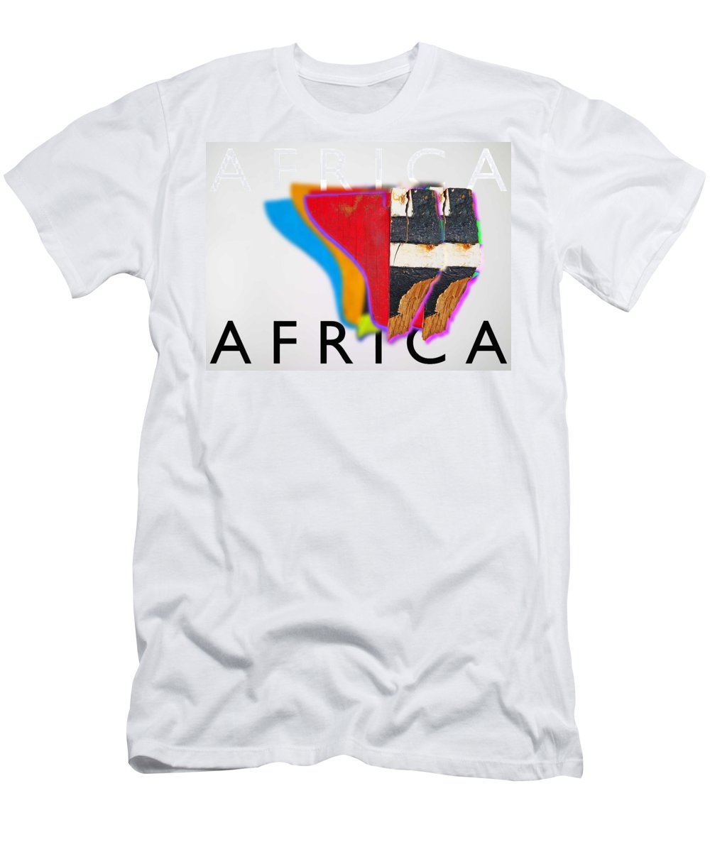 Africa Men's T-Shirt (Athletic Fit) featuring the digital art African by Charles Stuart