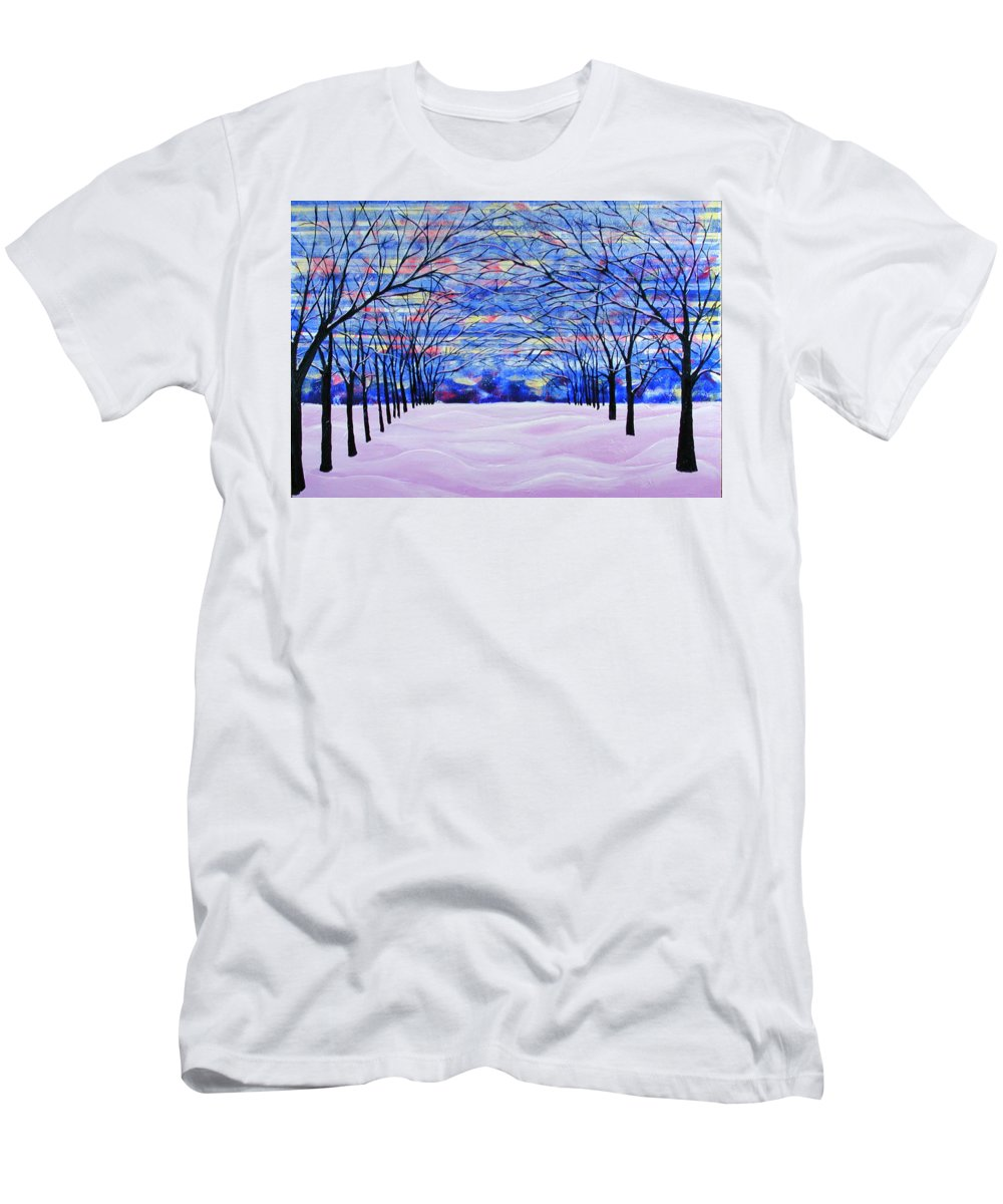 Landscape T-Shirt featuring the painting After The Snow by Rollin Kocsis