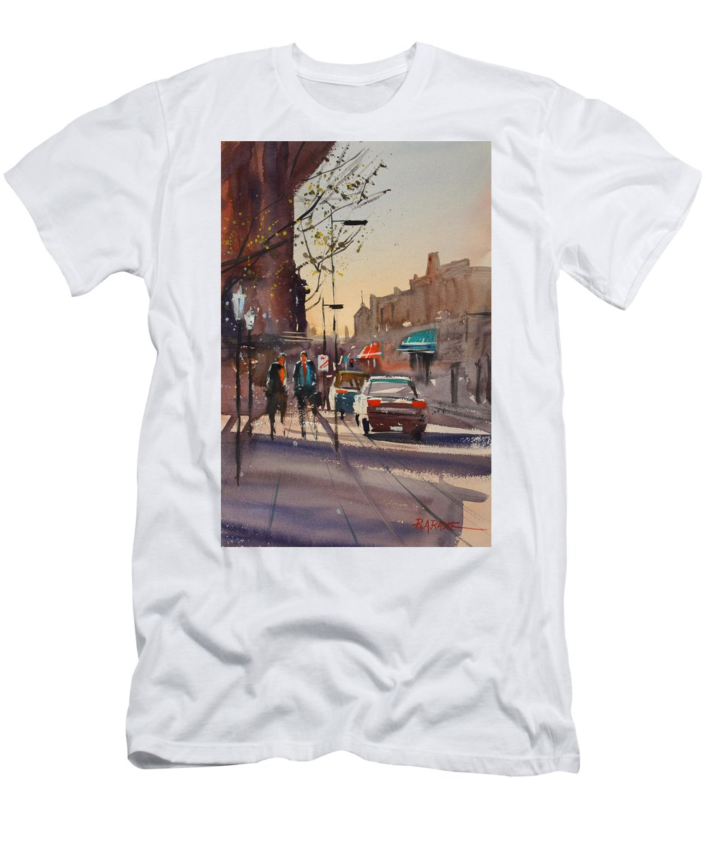 Ryan Radke Men's T-Shirt (Athletic Fit) featuring the painting Afternoon Light by Ryan Radke