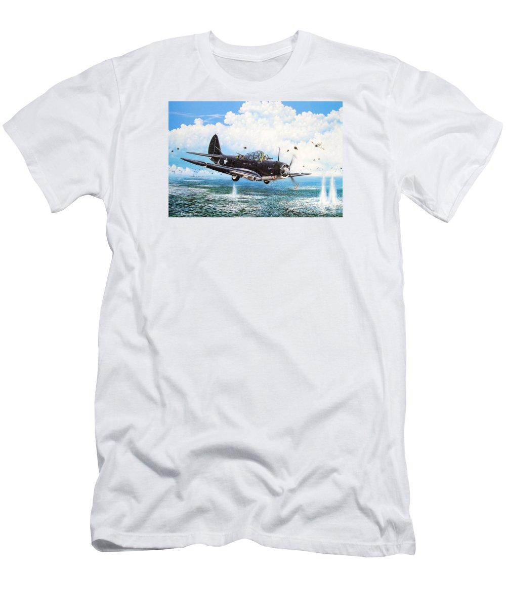 Military T-Shirt featuring the painting Against The Odds by Marc Stewart