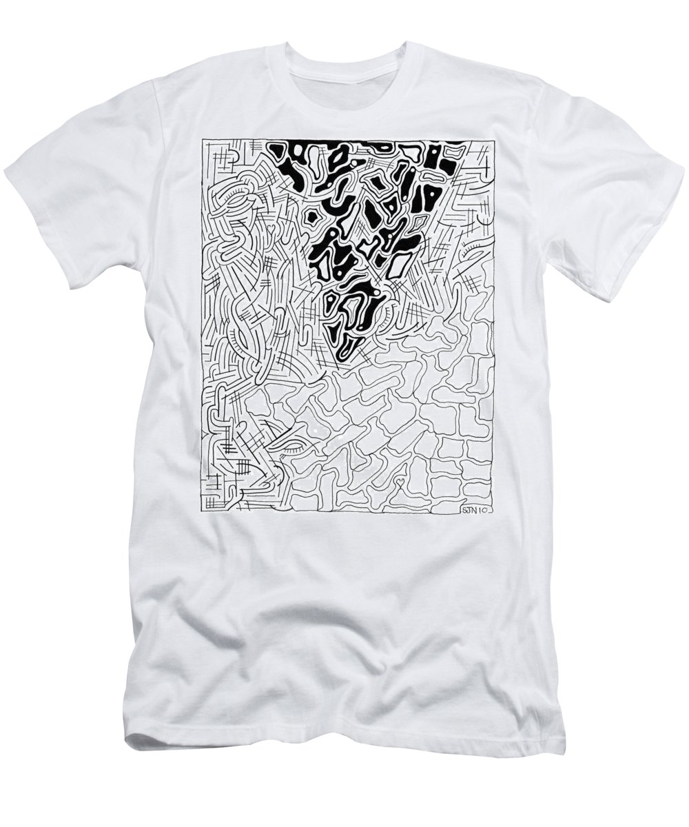 Abstract Men's T-Shirt (Athletic Fit) featuring the drawing Aikya by Steven Natanson