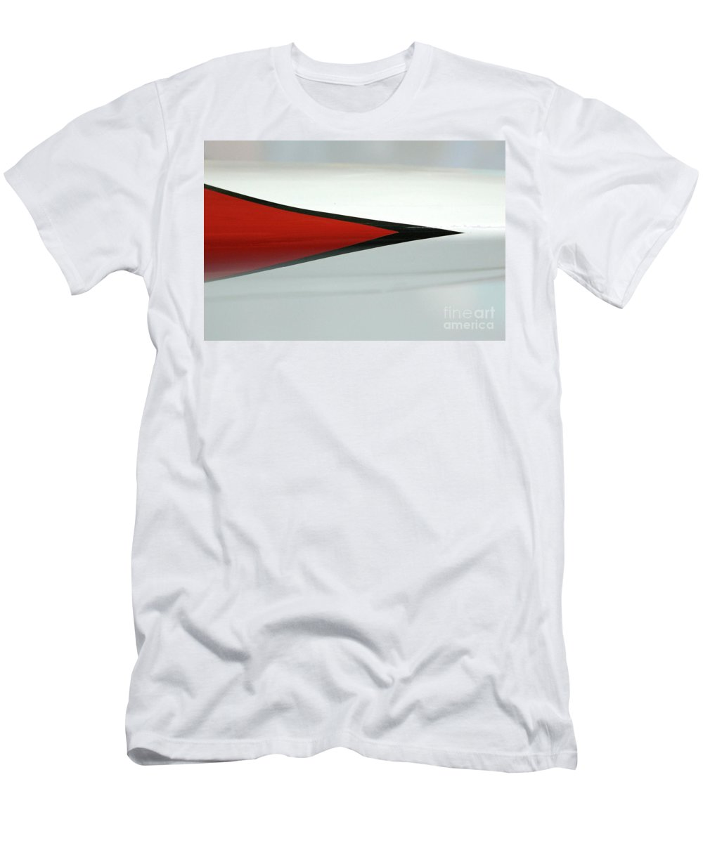 Abstract Men's T-Shirt (Athletic Fit) featuring the photograph Aircraft Pinstripe by Rick Bures
