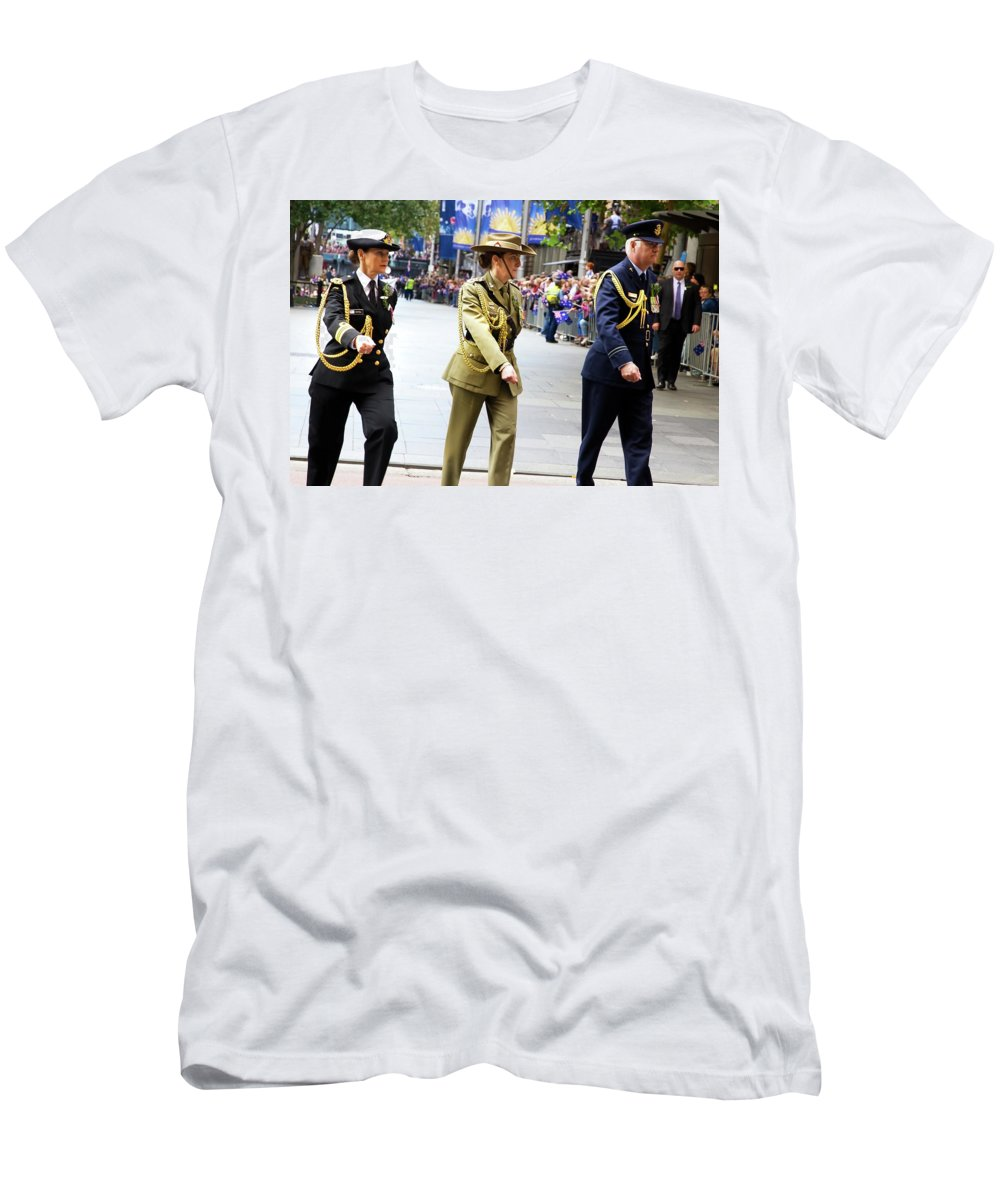 Airforce Men's T-Shirt (Athletic Fit) featuring the photograph Airforce Military Navy by Miroslava Jurcik