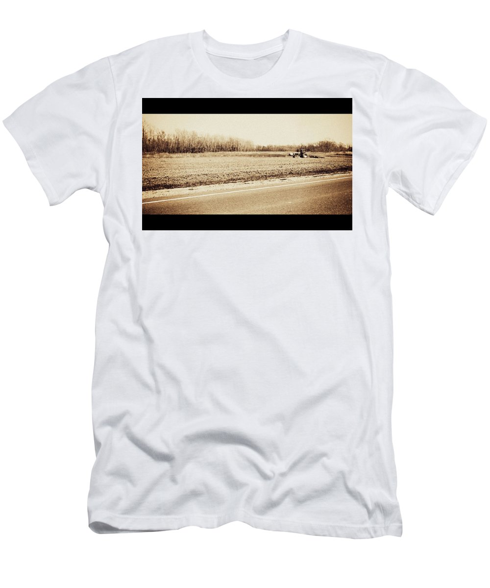 Heritage Men's T-Shirt (Athletic Fit) featuring the photograph All In A Days Work by Jessica Kristoff