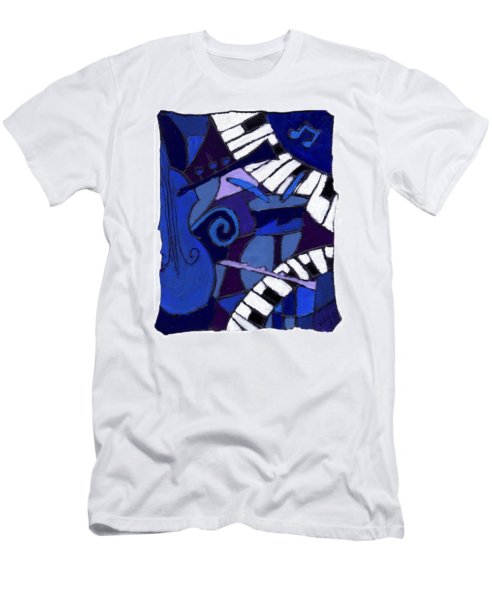 Jazz Men's T-Shirt (Athletic Fit) featuring the painting All That Jazz 3 by Wayne Potrafka